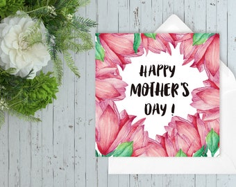 Happy Mother's Day, Card For Mom, Mother's Sunday card, Funny Mother's Day Card,Cute floral card for mum, Mother's day