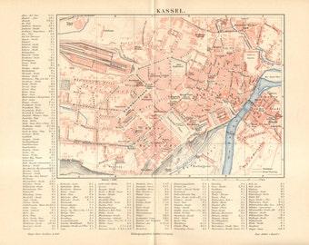 Kassel map Etsy