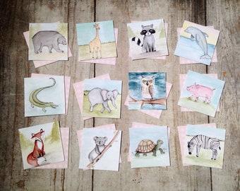 Animal Memory Matching Game Educational Game Children's Gift