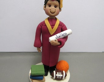 Graduation Personalized Cake Topper Figurine Custom Made To Order
