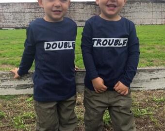"""Twins """"Double Trouble"""" T-Shirt Set"""