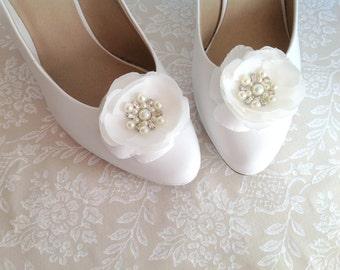 Shoe decoration etsy wedding bridal shoeclip romantic shoe decoration a set junglespirit Choice Image
