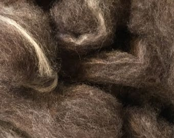 Natural Dark CVM Cross Roving with Bamboo - Perfect for Socks