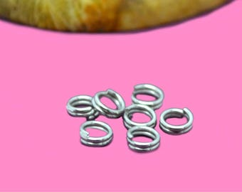 Double 4mm silver color rings
