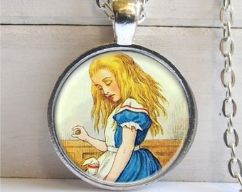 Alice In Wonderland Pendant - Alice Art Charm Necklace