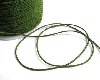 5 m nylon string Green Khaki 1 mm