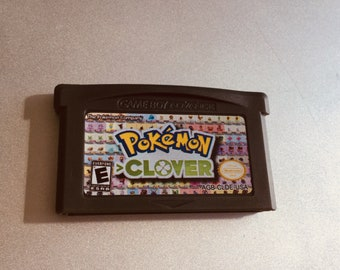 Pokemon Clover Version GameBoy Advance GBA Game Homebrew Hack