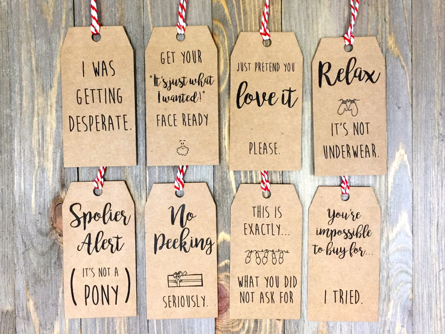 Christmas Tags: Christmas Tag Pack 1.0 Set Of 8 Tags Honest Christmas