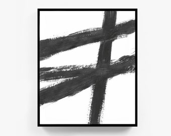 Abstract Paintings, Black And White, Large Wall Art, Modern Painting, Modern Minimalist, Modern Art, Abstract Print, Abstract Art, Framed