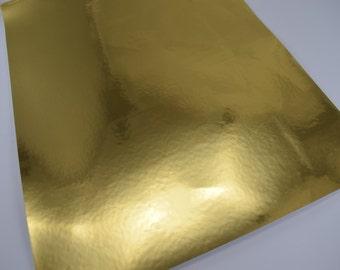 GOLD MIRROR sheet,8x11 faux leather,gold metallic material,gold mirror material,gold reflective material,gold reflective fabric