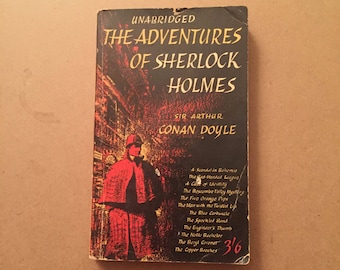 Unabridged The Adventures OF Sherlock Holmes by Sir Authur Conan Doyle  (1959, Paperback)