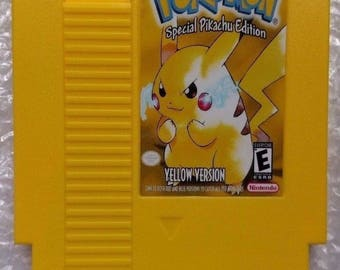 Pokemon Yellow Version: Special Pikachu Edition Reproduction NES Cartridge - Repro Cart - NEW
