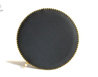 Seat Cushion ROUND U0027Nu0027 ROUND, Leather Seat Cushion, Recycled Leather, Round  Chair Pad, Bench Seat Cushion, Industrial Decor, Minimalist