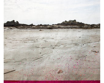 Chausey (Nature Photography - Fine Art Print - Landscape - Beach - Seaside - Rocks - Painting - Sage - Deep Pink)