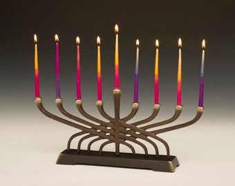 Contemporary Menorah 9 Candle for Hanukkah, Holiday or Decor