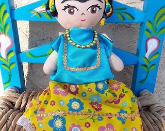 Frida Kahlo Doll, Frida Doll, Frida