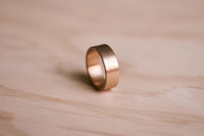 Brushed Bronze Ring