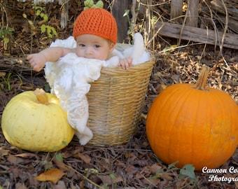 Pumpkin Hat Baby Halloween Costume Crochet Pumpkin Beanie Preemie Costume Adult Costume Thanksgiving Outfit Fall Photo Prop Baby Girl Boy