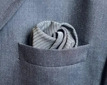 Pinstripe Pocket Square