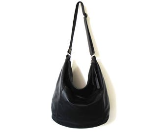 Black leather bag SALE leather hobo bag - soft leather bag - large leather bag - crossbody bag women leather bag leather shoulder bag purse