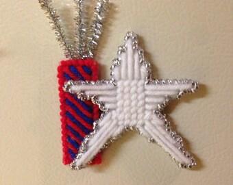 firecracker and star magnet