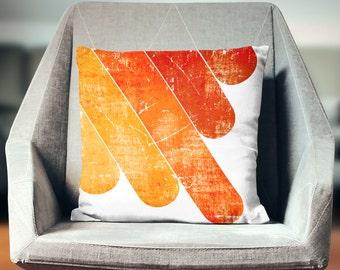 Retro Pillow | Orange Pillow | Orange Throw Pillow | Orange Decorative Pillow | Orange Decor | Orange Pillow Cover | Industrial Pillow