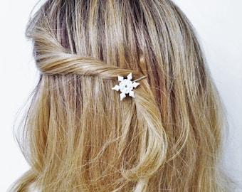 Snowflake Hair Pick, Snowflake Hair Pin Bobby pin