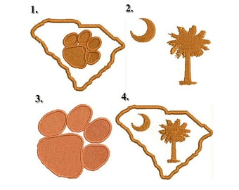 Clemson Embroidery Design Pack