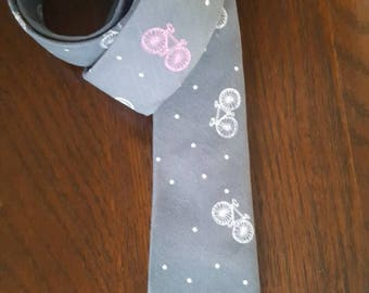 Gray Bicycles Skinny Tie