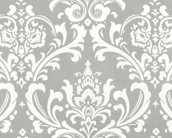 Grey Damask Fabric by the BOLT Home Decor Upholstery Premier