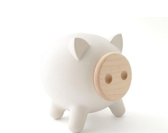Mini PIGZ, Modern piggy bank, Baby Size, Personalization Available, Baby shower, Nursery, Home decor, Kids gifts, Boy's gifts, girl's gifts