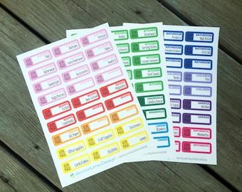 Konmari Stickers - Marie Kondo Method - for planners (Erin Condren, Happy Planner InkWell, Plum Paper)