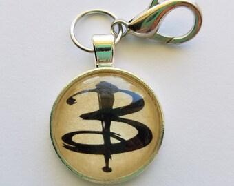 """Buffy The Vampire Slayer """"B"""" keychain"""