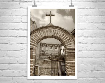 San Juan Capistrano Mission Picture, California Mission Photo, Spanish Missions Church Art, Old Church Photograph, California Gift, Sepia