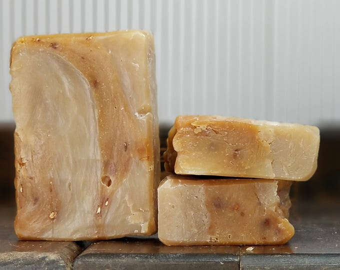 Beer for Breakfast Soap (Oatmeal Stout Hand and Body Soap) --  All Natural, Handmade, Barely Scented, Vegetarian, Beer Soap, Free Shipping