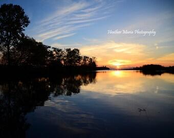 Journey, a beautiful sunrise reflection, fine art Photography