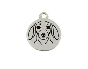 Dachshund Charm, Stainless Steel Dachshund Dog Charm, Dachshund Jewelry, Dachshund Dog Charm, Doxie Charm, Doxie Jewelry, Doxie Owner Gift