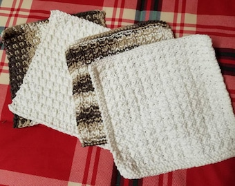 Crochet / Knit Dishcloths Washcloths Cleaning