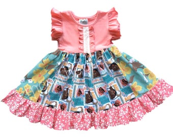 Moana birthday dress Aulani Hawaii Disney Princess dress birthday Disney vacation clothing Maui Aulani resort summer Momi boutique custom
