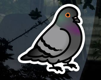 """Chubby Pigeon - Rock Dove 3.5"""" Sticker 1-3 pc. Options [Outdoor Quality]"""