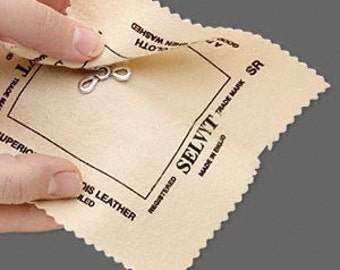 """Selvyt Brand Polishing Cloth for metals and gemstones 5x5"""" 1538TL"""
