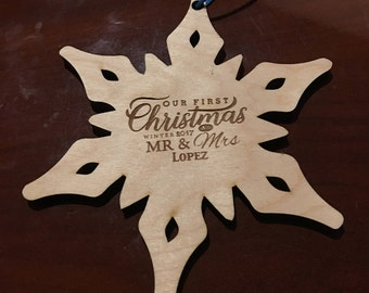 Christmas Ornament - Our First Christmas