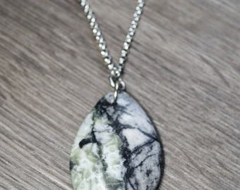 Genuine Picasso Marble Stainless Steel Necklace
