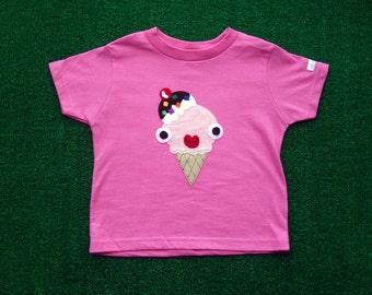 Yummy Naughty Ice-cream Kids T-Shirt - Hot Pink