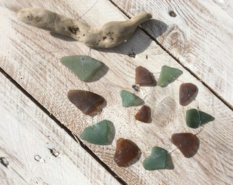 Sea Glass Heart Mobile
