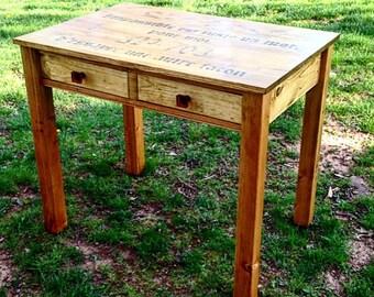 Custom Built Writing Desk, Small Sized Desk, Writing Desk with Drawers, Petite Desk, Custom Finished Desk, Rustic, Student, Children's