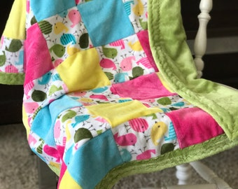 Spring Minky Blanket