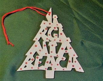 Virginia Beach, tree shaped ornament