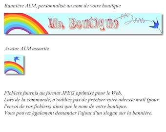 Banner and avatar Rainbow for shop