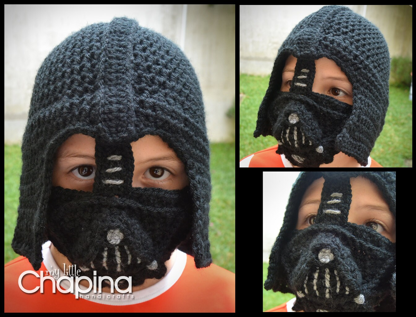 PATTERN Darth Vader Crochet Hat for Children (Not the Physical Hat ...